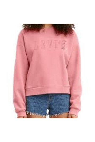 Levi's Graphıc Dıana Crew - Serıf Outlıne Garment Dye Blush 85283-0029