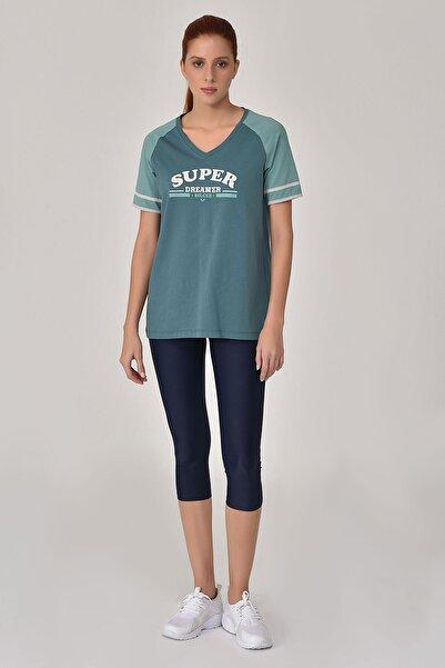 bilcee Turkuaz Kadın T-Shirt GS-8616