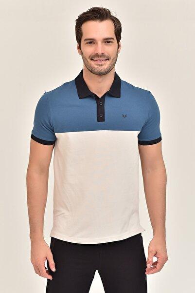 bilcee Mavi Büyük Beden Erkek T-Shirt GS-8981