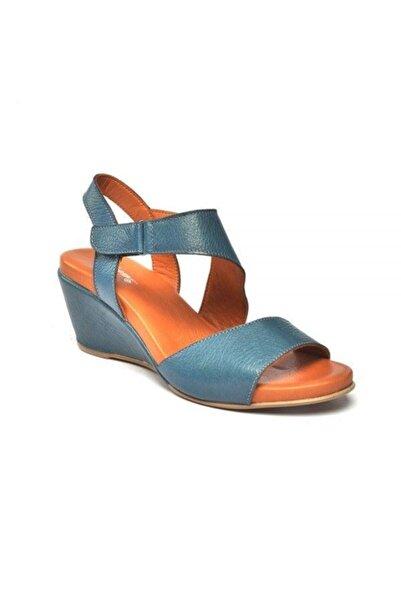 Zeyn Kadın Mavi Sandalet