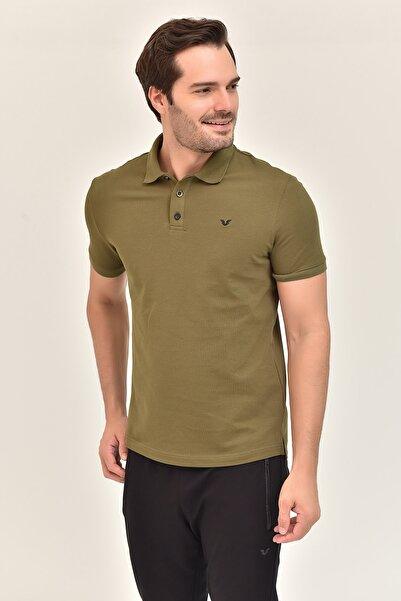 bilcee Gri Erkek Büyük Beden Polo Yaka T-Shirt GS-8983