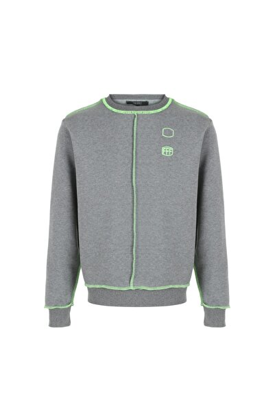 Fineapple Gri Neon Yeşil Detaylı Sweatshirt