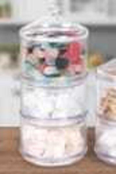 Manor 3 Katlı Kristal Akrilik Saklama Kabı
