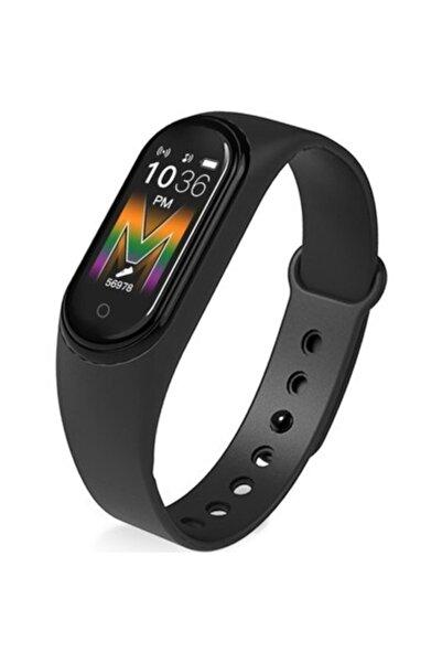 JUNGLEE Siyah M5 Nabız Ölçer Bluetooth Saat Çağrı Cevaplama Bluetooth Müzik M5  Akıllı Bileklik