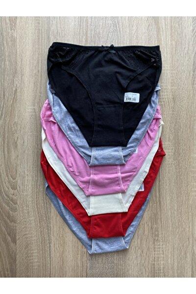 Tutku Kadın Renkli  Bikini Alt Kombin Firuze  6 Lı 0515