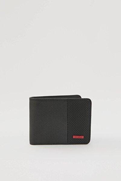 Pull & Bear Erkek Renkli Kırmızı Etiketli Siyah Cüzdan 04815518