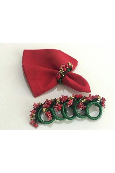Livessa Home 6'lı Kokina Çiçekli Peçete Yüzüğü
