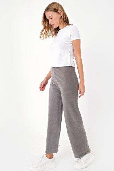 Trend Alaçatı Stili Kadın Vizon Polar Eşofman Altı ALC-X5074