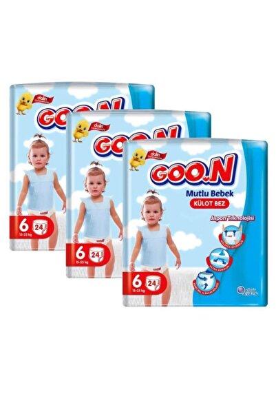 Goo.n Mutlu Bebek Jumbo Paket 3'lü Set Külot Bez 6 Beden 72 Adet
