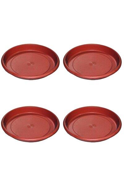 Marketonya 4 Adet No: 5-6 Saksı Tabağı Saksı Altlığı 15,5 Cm Çapında Saksı Altı Saksı Tabağı