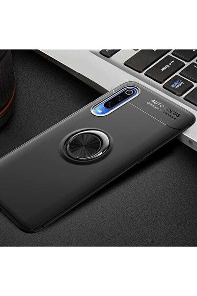 AksesuarLab Samsung Galaxy A70 Kılıf - Manyetik Yüzüklü Kılıf - Siyah