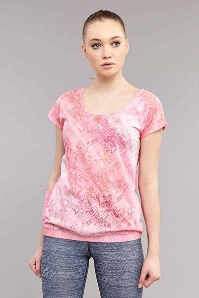 bilcee Pembe Likralı Pamuklu Kadın T-Shirt ES-3571