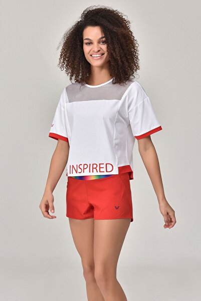 bilcee Beyaz Kadın T-Shirt GS-8080