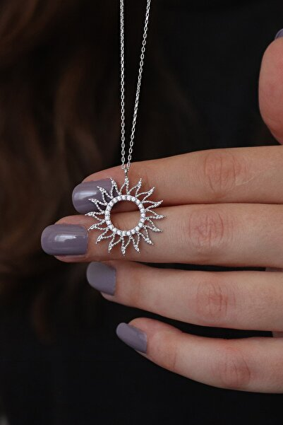 Parmas Design Kadın Güneş Tasarım 925 Ayar Gümüş Kolye