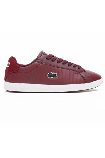 Lacoste Graduate 419 1 Sfa Kadın Koyu Kırmızı - Bej Sneaker