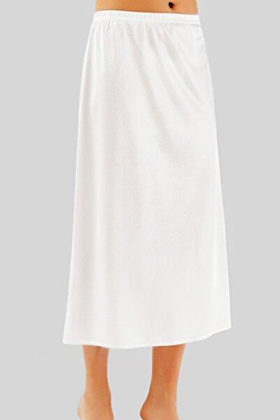 Lorelm Jüpon Tam Boy Uzun Etek Astarı Beyaz Renk Jipon