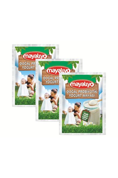 MAYALIYO Doğal Probiyotik Yoğurt Mayası 3 Adet