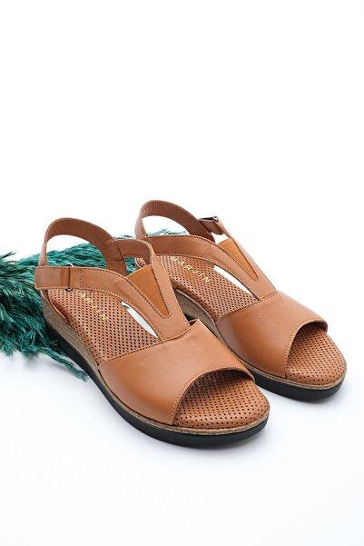 Marjin Kadın Hakiki Deri Dolgu Topuk Sandalet Alistaba