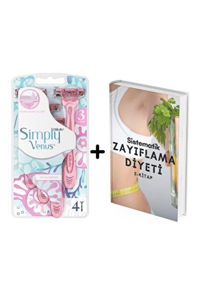 Gillette Simply Venüs 3 Kullan At Kadın Tıraş Bıçağı 4'lü Diyetisyenden Zayıflama Diyeti E-kitap