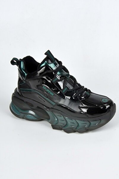 Guja 21k319-1 Kadın Sneaker Ayakkabı - - Siyah Yeşil - 40