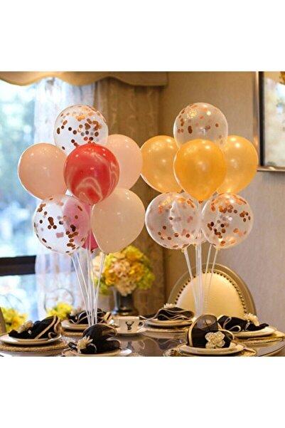 Miremi Düğün Parti Ayaklı Balon Standı 7'li Ikili Set