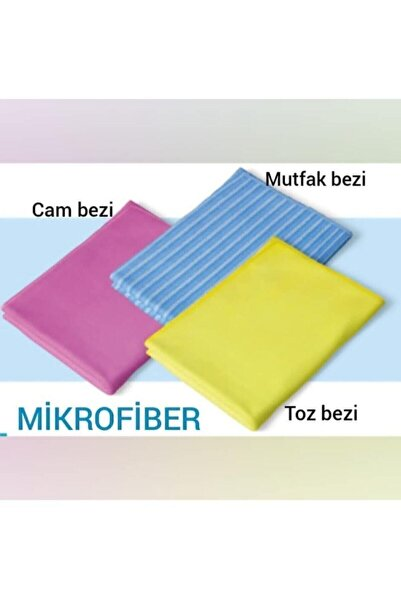 Silva Mikrofiber Klasik Üçlü Temizlik Seti (cam Bezi- Mutfak Bezi- Toz Bezi ) Dg