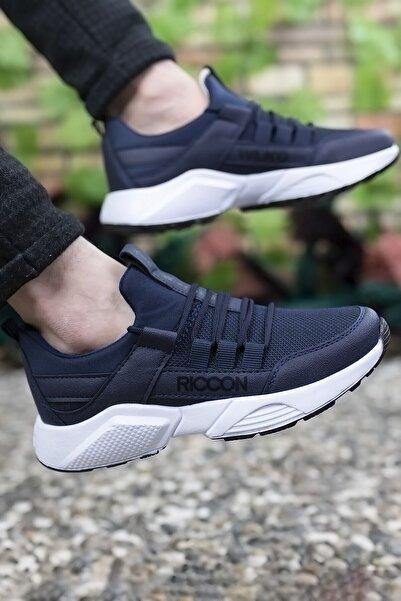Riccon Unisex Lacivert Beyaz Sneaker