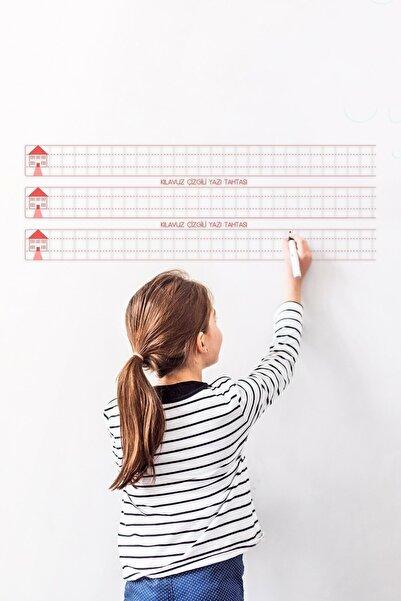 Cengo Klavuz Çizgili Kağıt Tahta + Doldurulabilir Silgili Tahta Kalemi Hediye