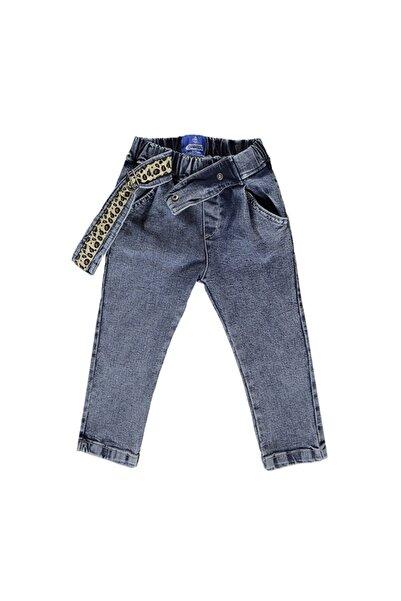 Overdo Kemer Detaylı Kız Çocuk Kot Pantolon