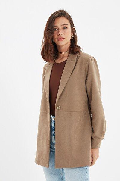 TRENDYOLMİLLA Taş Basic Blazer Ceket TWOAW22CE0211