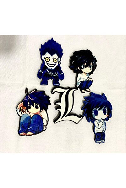 ZID Death Note Anime Ryuk L Ahşap Magnet Seti 5'li