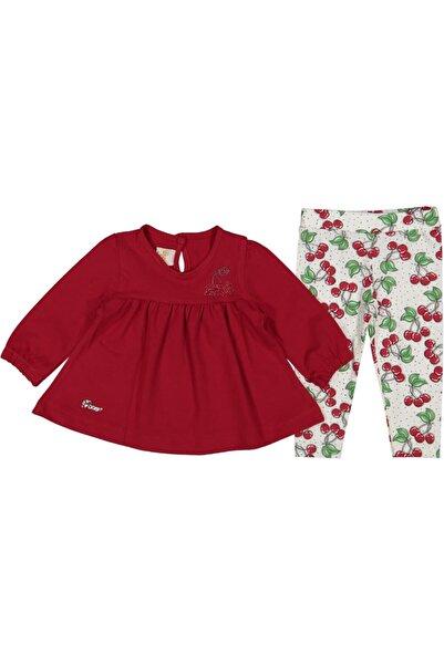 DECO Kız Bebek Kırmızı Renk Taytlı Bluz Takım