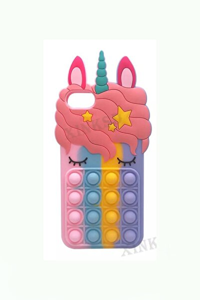 Kılıfsiparis Iphone 6/6s / 7 / 8 / Se 2020 Uyumlu Unicorn Pop It Kılıf
