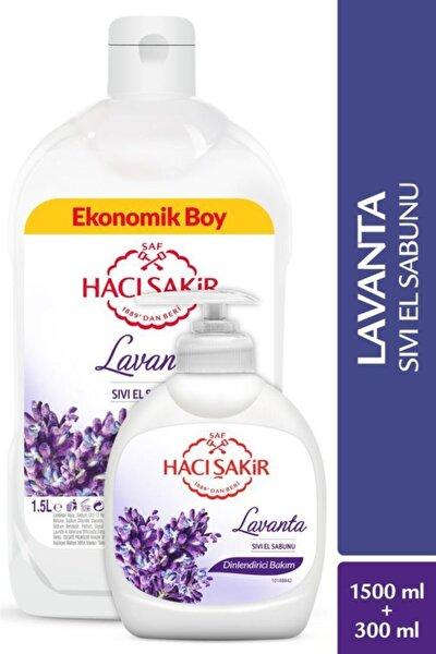Hacı Şakir Lavanta Dinlendirici Bakım Sıvı El Sabunu 1500 ml ve  300 ml