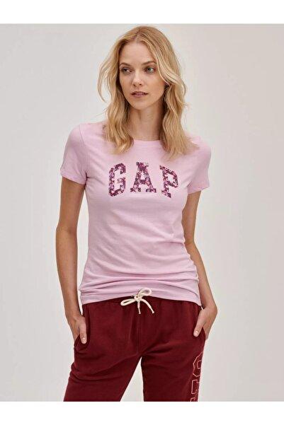 GAP Kadın Pembe Logo T-shirt
