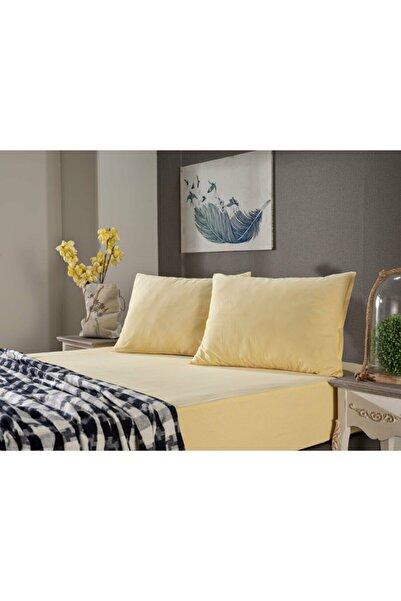 Doqu Home Penye Çarşaf Takımı Çift Kişilik - Sarı