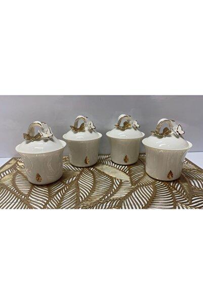 AROW 4 Lü Porselen Küçük Baharatlık