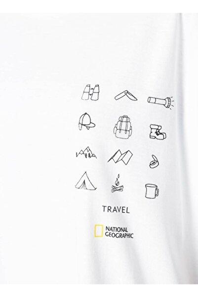NATIONAL GEOGRAPHIC T-shirt, S, Ekru
