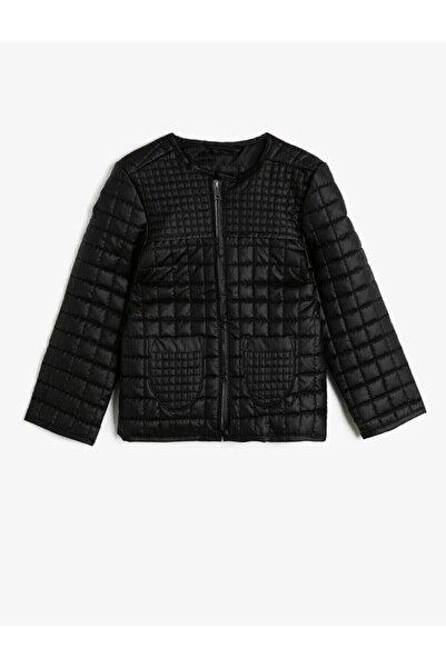 Koton Kız Çocuk Siyah Ceket