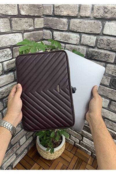 GUARD Bordo Mat Üçgen Desen Clutch Çanta Macbook Pro 13 Inç Laptop Kılıfı