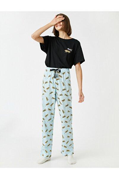Koton Desenli Pamuklu Kisa Kollu Pijama Takimi