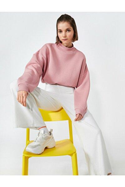 Koton Yarim Balikçi Yaka Oversize Sweatshirt