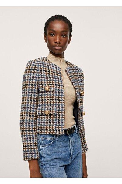 MANGO Woman Kazayağı Desenli Ceket