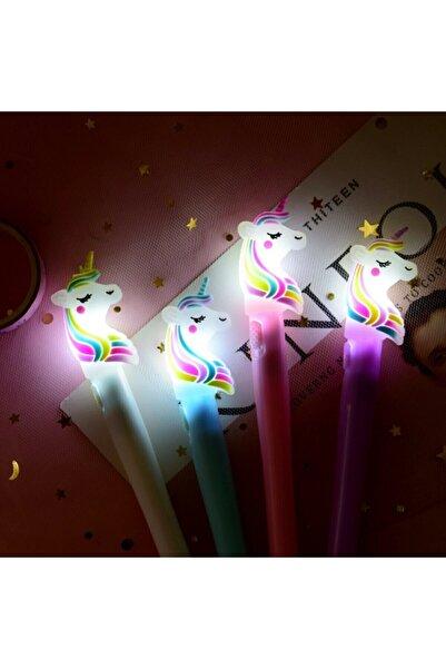 muustie 1 Adet Unicorn Işıklı Roller Tükenmez Kalem