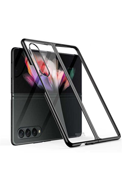 Samsung Galaxy Z Fold 3 Uyumlu Kılıf Kenarları Renkli 180 Derece Darbe Emici Full Koruma Kapak