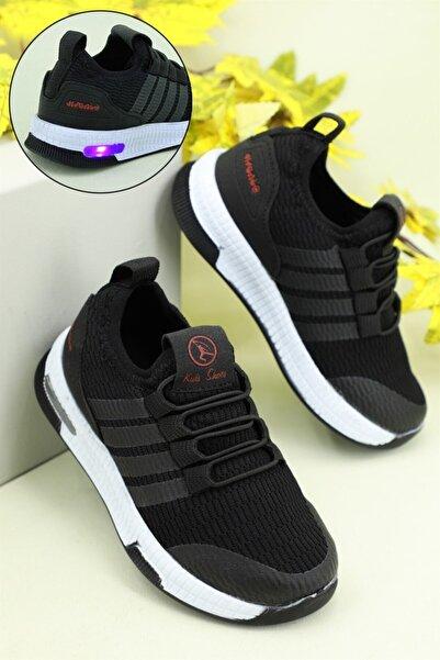 Arvento Işıklı Rahat Siyah Çocuk Spor Ayakkabı 500