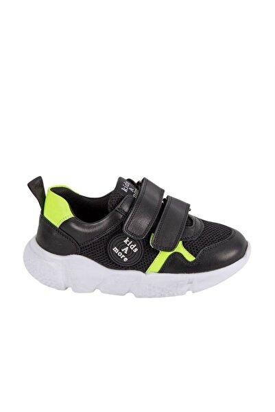 kids A more Adria Air File Detaylı Deri Erkek Çocuk Sneaker Siyah