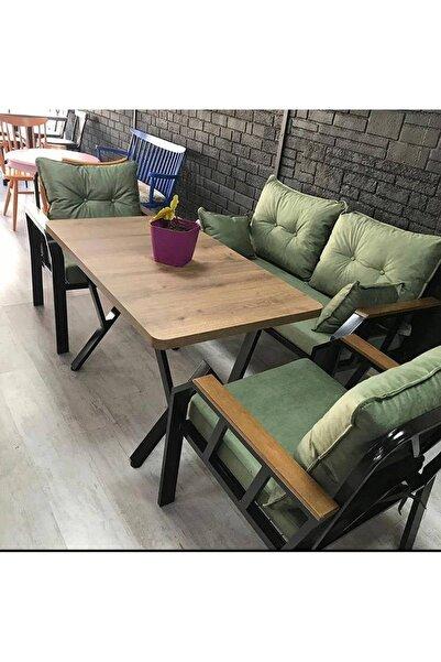 Tu Tienda Yeşil Demonte Bahçe Balkon Takımı 2+1+1+ Masa