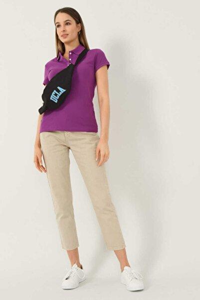 UCLA Shaver Mor Polo Yaka Nakışlı Kadın Tshirt