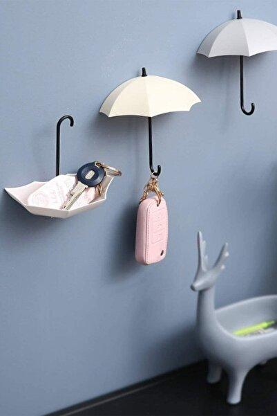 FERHOME Şemsiye Askılık 4lü Set Takı Anahtar Ev Dekorasyon Askısı Dekoratif Aksesuarlar